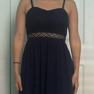 BCX dress blue lace homecoming dress